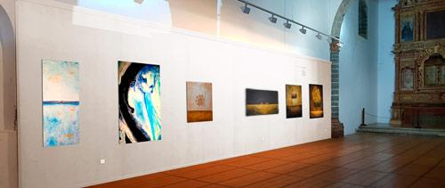 Fotomontaje exposicion arte abstracto lanzarote